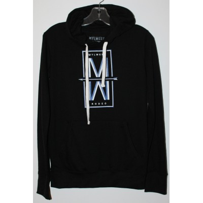 MW Rodeo  Sweat a Capuche Noir -Bleu