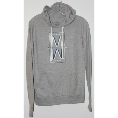 MW Rodeo  Sweat a Capuche Gris Mixte/ Bleu Marin