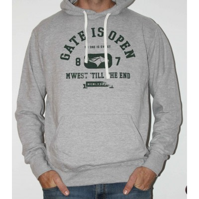 Gate Is Open - Sweat a Capuche Gris Mixte- Vert -Foret