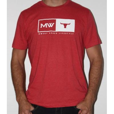 MW- Tete De Taureau T-Shirt Rouge- Mixte -Blanc