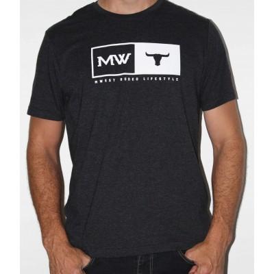 MW- Tete De Taureau T-Shirt Noir Mixte -Blanc